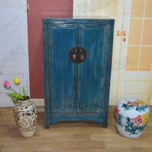 Reproduction colorful cabinet antique chinese furniture in living room