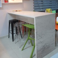 newest artificial stone breakfast bar table