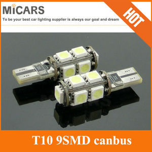 New update high lumen T10 9 SMD 5050 LED canbus error free LED car light