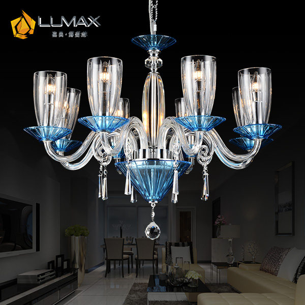 LUMAX blue light #D9004 crystal light home chandelier
