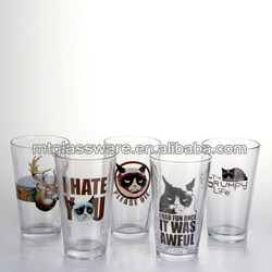 Pet cat, reindeer modelling glass material shot glass