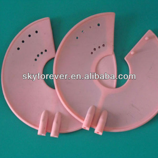 Pink tens electrodes for breast massage,conductive silicon electrodes pads