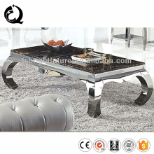 Top Quality Luxury Stainless Steel Leg Natural Stone Glass/Marble Coffee Table base