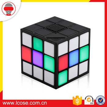 2017 Portable led magic square cube wireless customized mini blue tooth bluetooth speaker