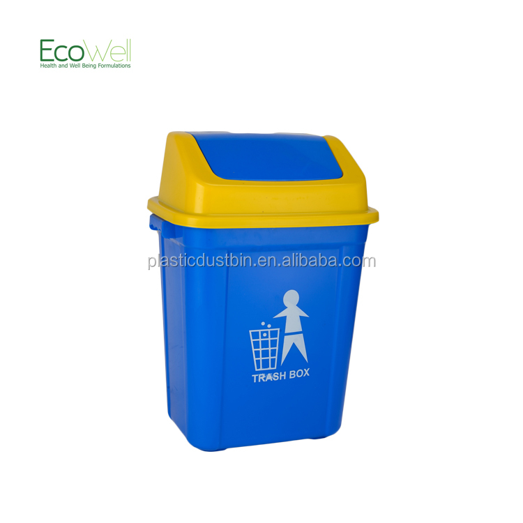 30l Office Home Use Swing Lid Plastic Container For Sale