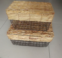 QJMAX High Quality Atmospheric Handicraft Metal Storage Basket