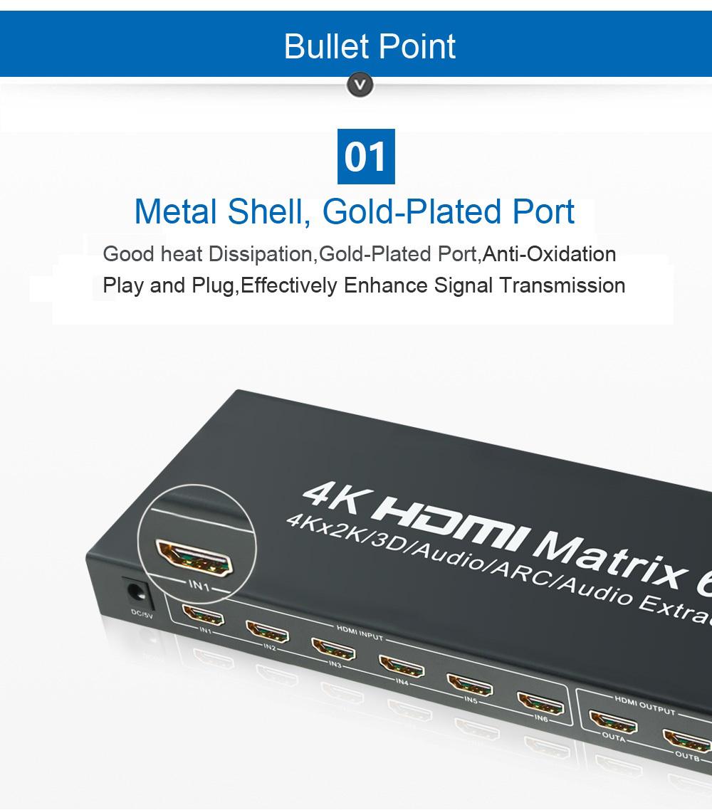 EMK 6x2 HDMI 1.4V Matrix TV (9)