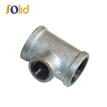 Malleable Iron Pipe Fittings 130r Threaded Street/Reducing Tee