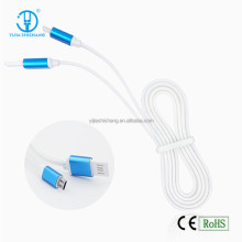 Alibaba Top Selling USB Data Cable 1M Jelly Aluminum Flat Mini USB Cable Charger