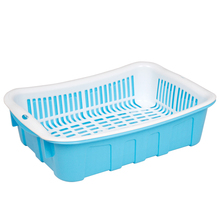Rectangle Colorful Drain Basket Kitchen Plastic Basin Sink Drain and Water Sieve Frame