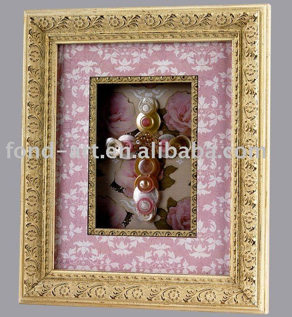 2737 Antique Gold Wood Picture Frame