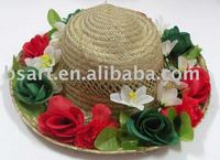 Fashion high quality women's 100% straw hat