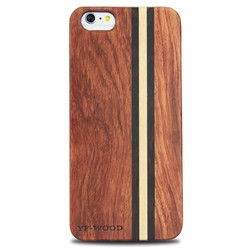 100% Natural Wood Strip Phone Case Factory Price For Iphone 6 PC+Wood Phone case