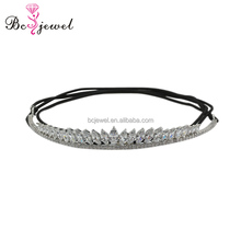 HG009 hot selling High quality metal New design good Top quality customized leather Rhinestone cheap crown for woemn girls