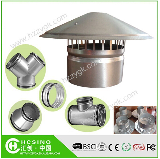 Waterproof Vent Pipe Cap/Galvanized Steel Cowl Vents/Roof Cowl Mushroom Air Vent for Kitchen Bathroom