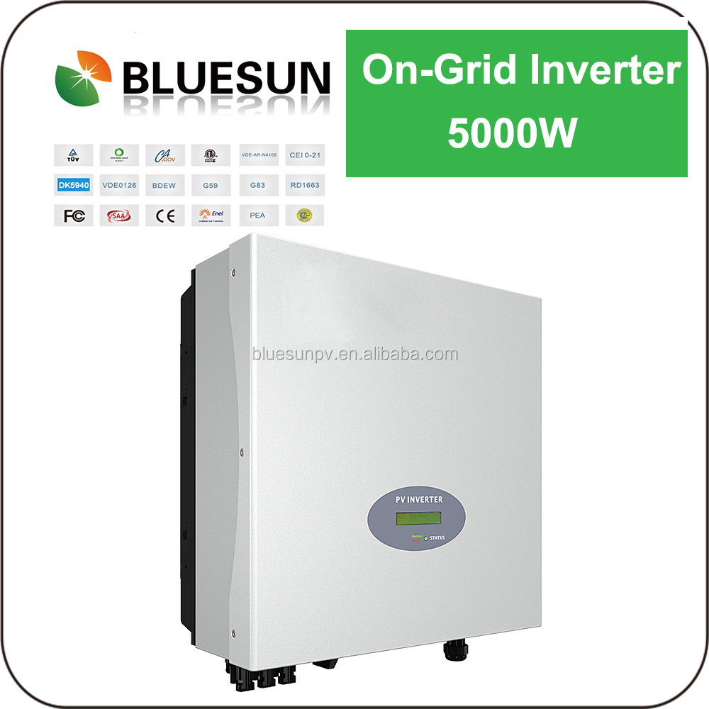 Bluesun 5kw Grid Tie Variable Frequency Drive Solar