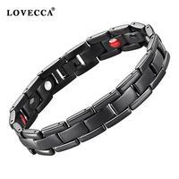 OEM health care stainless steel ion power blood pressure korea therapy germanium magnetic bracelet