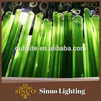 Blown glass tube promotional chandeliers in fake crystal