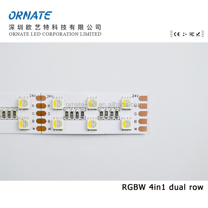 120led/m CE Rohs certificated CRI>80 5050 4IN1 rgbw led strip