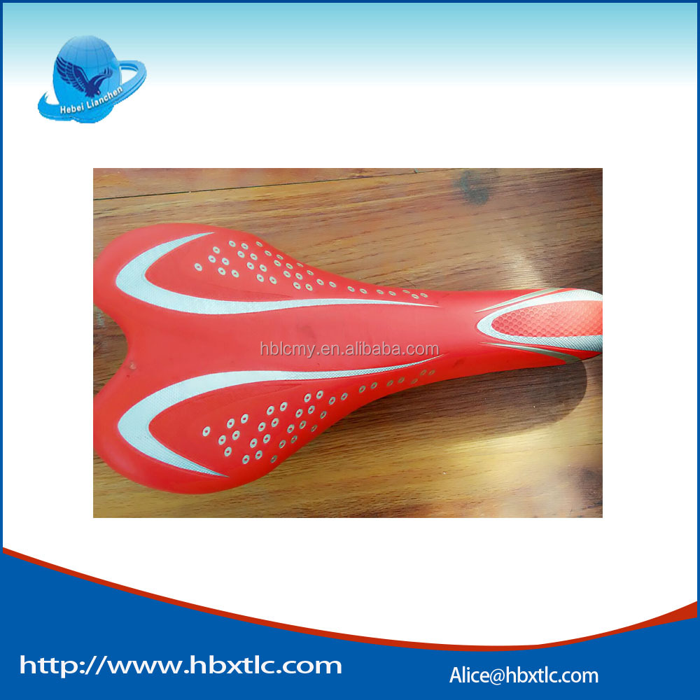 hebei hot sell leather cover mtb bicycle seat/sports bike saddle/bicycle parts