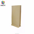 Plain Natural Kraft Flat Box Bottom Bag with Valve 100g 250g Packaging