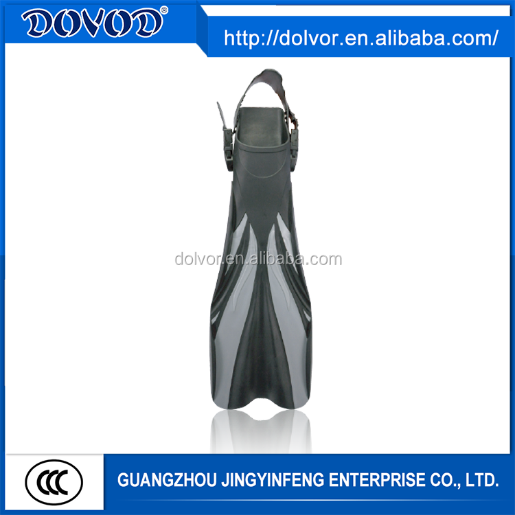 OEM open foot pocket fin diving equipment adjustable underwater fins