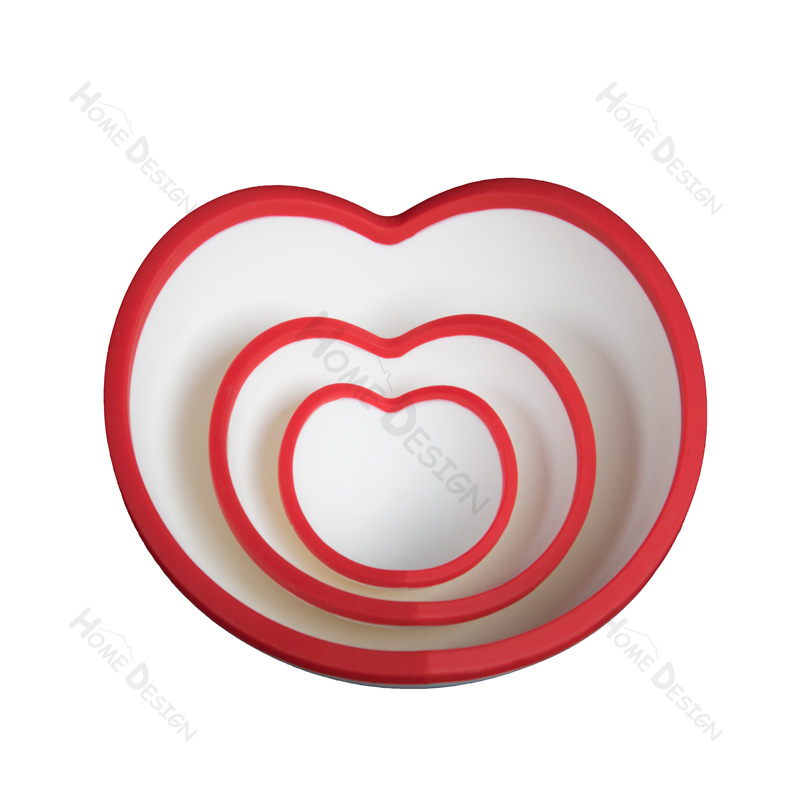 silicone heart shape bowls valentin day gifts J08031