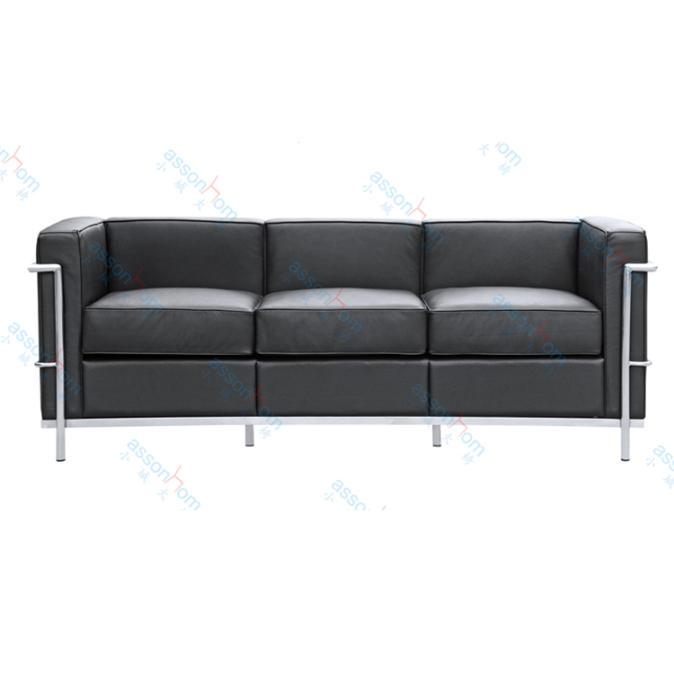 Le corbusier lc2 sofa buy 3 seater sofa replica sofa le for Le corbusier sofa nachbau