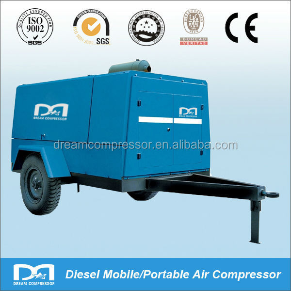 Atlas Copco portable mobile screw air compressor