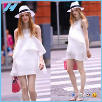 YiHao Fashion pure color maternity dress Chiffon material maternity clothes Sleeveless soft and sexy maternity wear