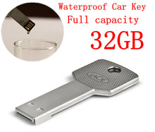 32GB KeyChain 2.0 USB Flash drive 16GB pen drive 4GB 8GB Waterproof Metal Key model Enough memory stick 2015 Fashion New