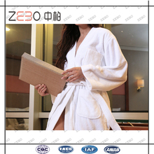 100% Cotton Star Hotel Used White Wholesale Towel Fabric Bathrobe