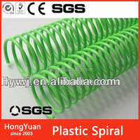 "size from 1/4"" to 2"" plastic spiral rings , coil spiral , fashion plastic spiral"