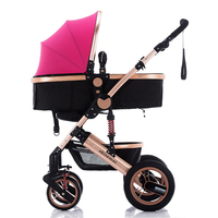 baby stroller with reversible handle,2017 hot selling foldable aluminum alloy frame and cotton baby stroller with universal whee