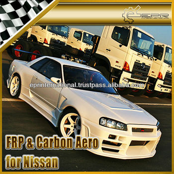 For Nissan Skyline R32 R324 BR Style Full Bumper Wide Arch Body Kit