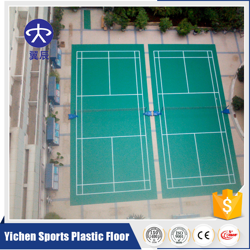 Plastic Vinyl Indoor Badminton Sports Court Flooring Mat