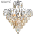 MEEROSEE Luxury Crystal Chandelier Light Living Room Lamp Lustres de Cristal Hanging Lighting for Villa Home Decoration MD83040