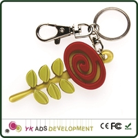 plastic keychain Customized Offered Advertising Corrugated Pallet Display Attract Customer
