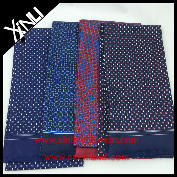 2015 Fashion Customer's Logo Print Silk Oblong <strong>Scarf</strong> for Men