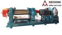 two roller mill for rubber and plastic mixing