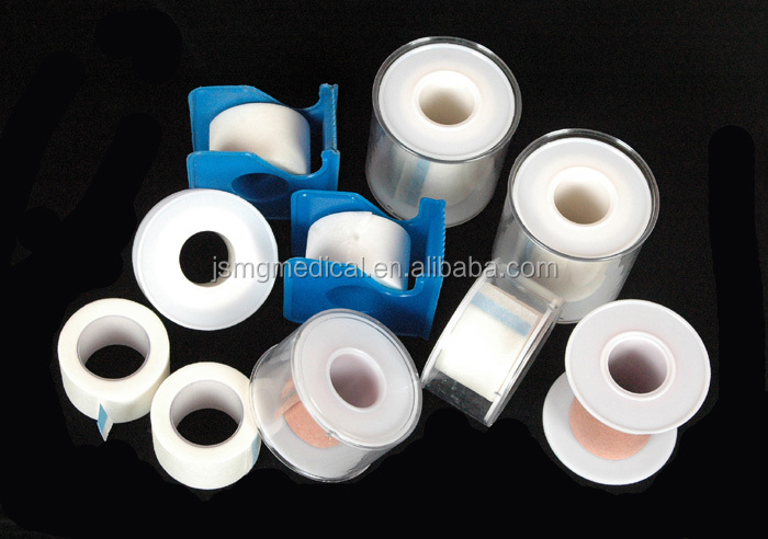 Non-woven medical adhesive tape with cutter