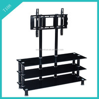 living room furniture stainless steel and glass tv stand