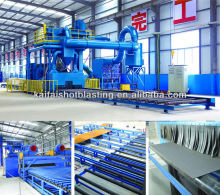 Q6925 Steel Sheet Pass Through shot blasting machine