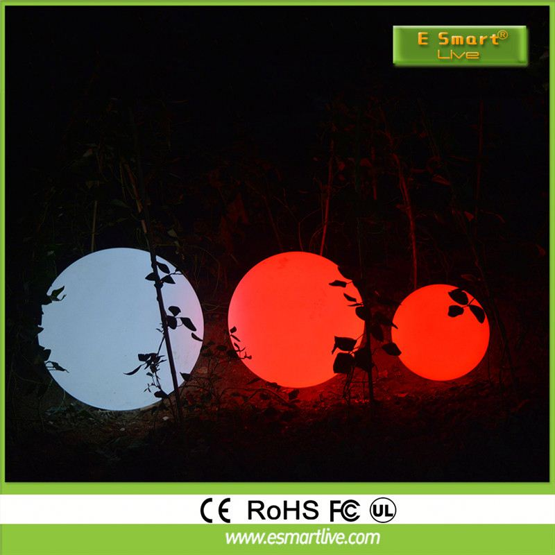 IP 68 waterproof rechargeable battery floating led illuminated swimming pool ball light for decoration
