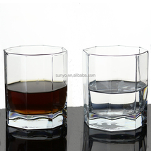Lead free polygon low ball glass drinking tea vodka glass manufacture promotion