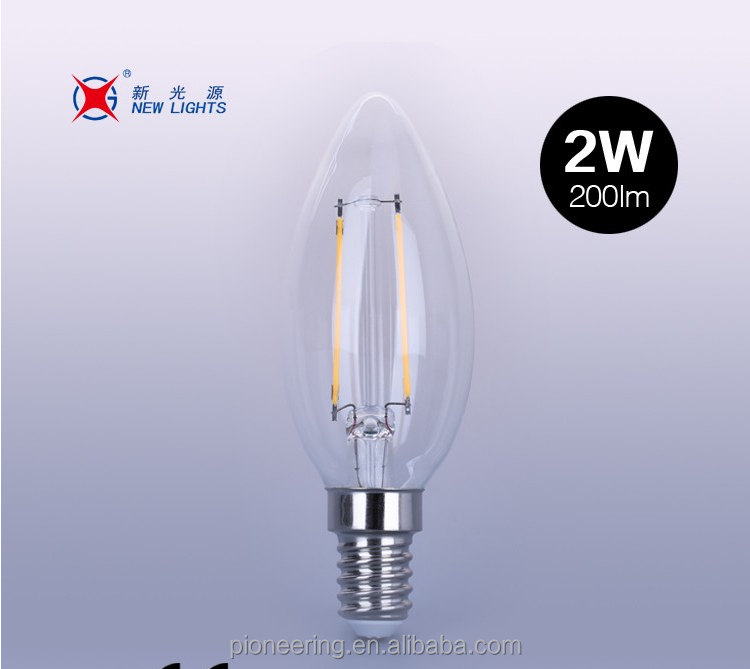 C35 led filament bulb 2w 4w candle light vintage bulb CE ROHS GS