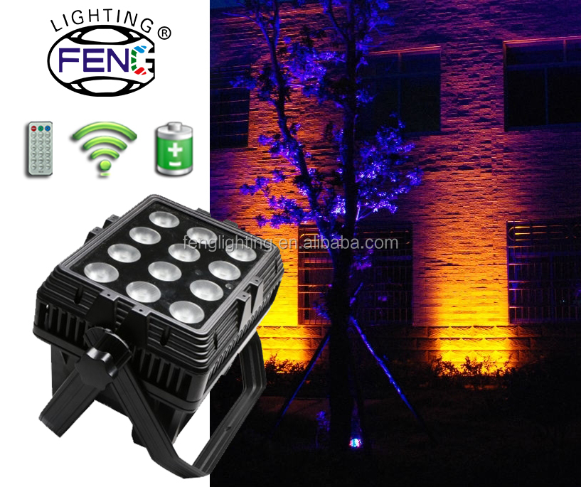2016 Best Selling Outdoor Powerful Gobo Projector IP65 Waterproof Remote Control Battery Operated Par Can