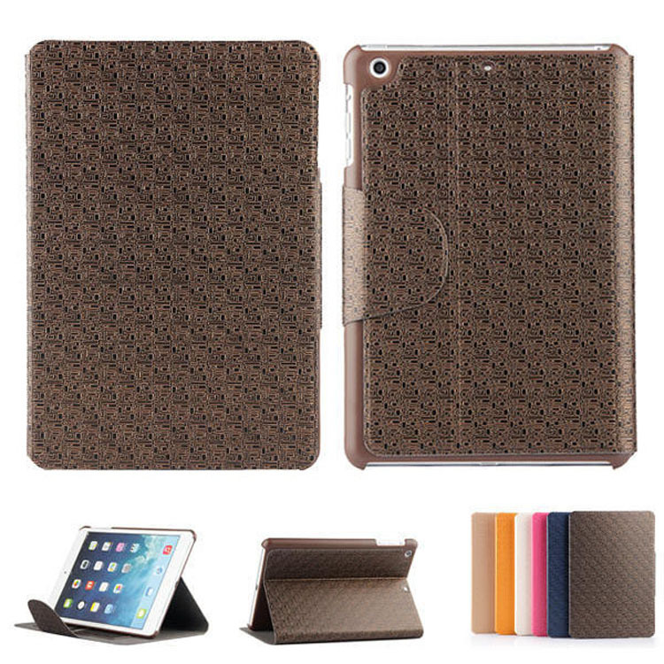 Retro maze leather case for ipad 2 3 4,for ipad case cover