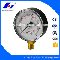 Black ABS Gaseous and Liquid Media 0-7bar/psi Cheap Water Pressure Gauge