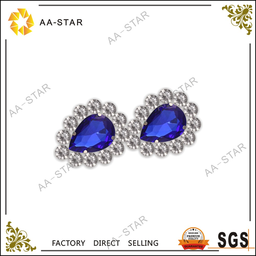 Royalbule water drop design acrylic gemstones for earings,necklaces